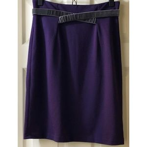 ❤️HP❤️ NWOT Girls From Savoy Purple Ponte Skirt